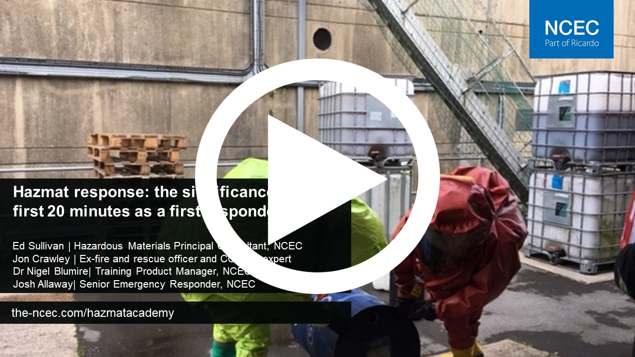 Hazmat response: the significance of the first 20 minutes as a first responder
