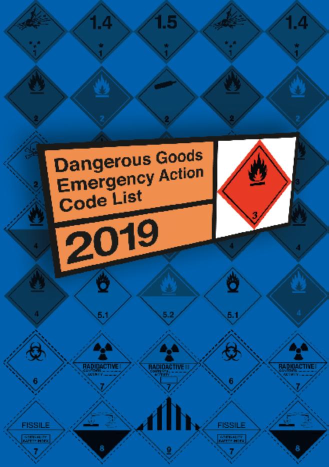 Dangerous Goods Emergency Action Code List 2019