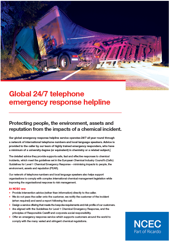 Global 24/7 telephone emergency response helpline