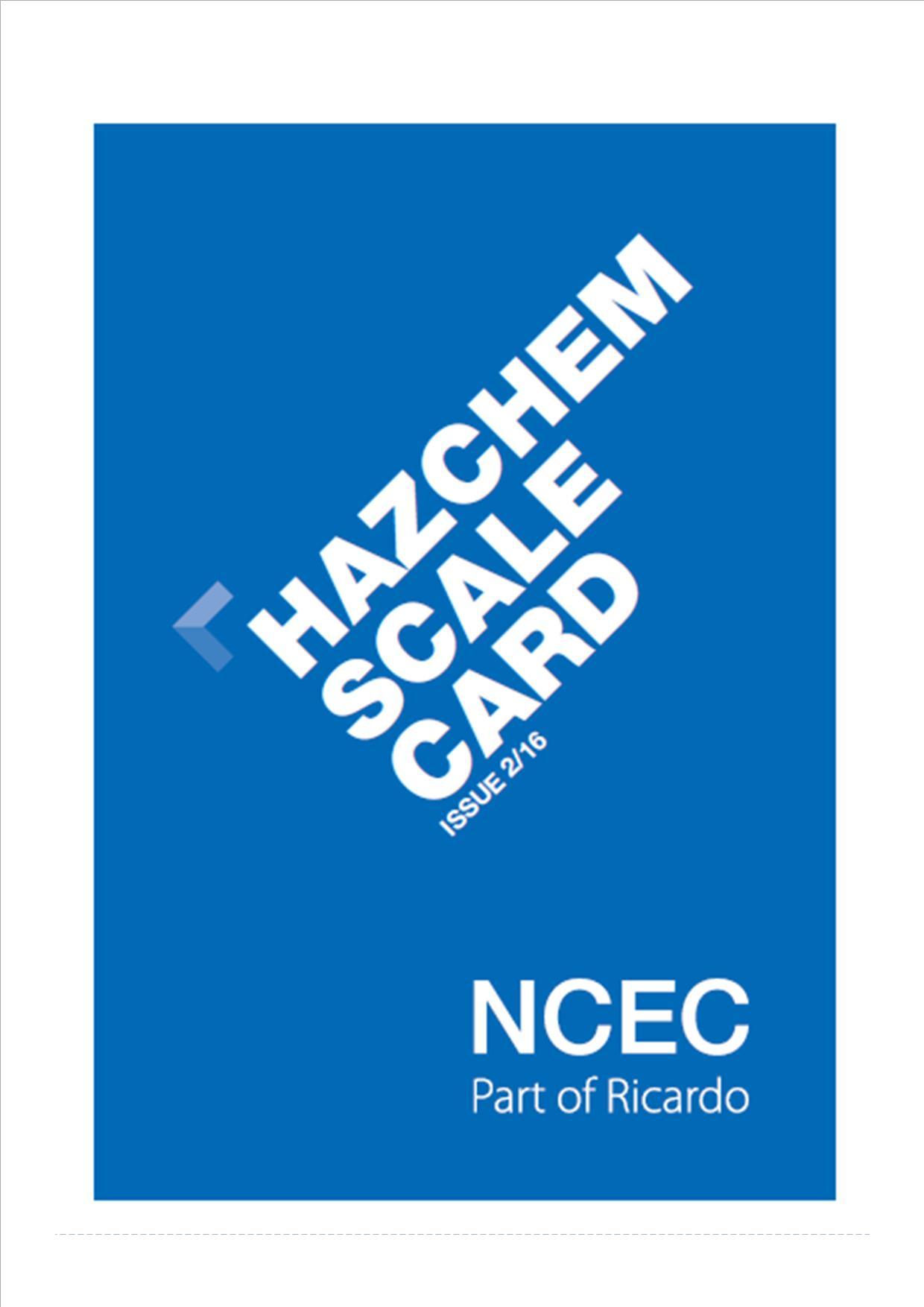 Hazchem Scale Card