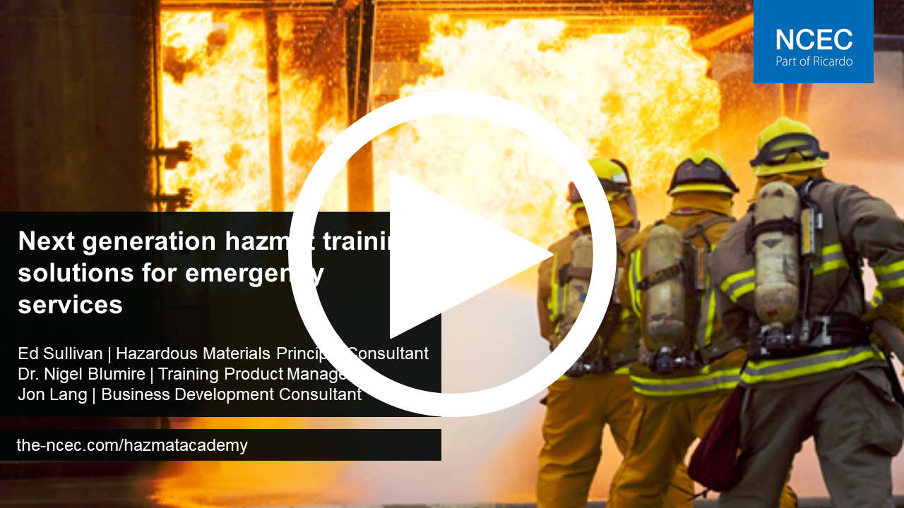 Next generation hazmat training solutions for emergency services (24 June 2020)