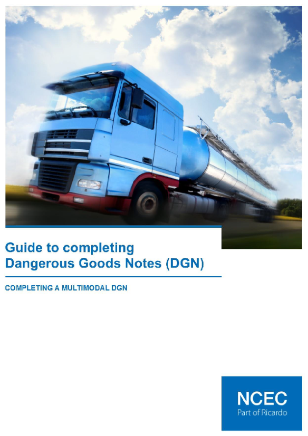 Guide to completing Dangerous Goods Notes (DGN)