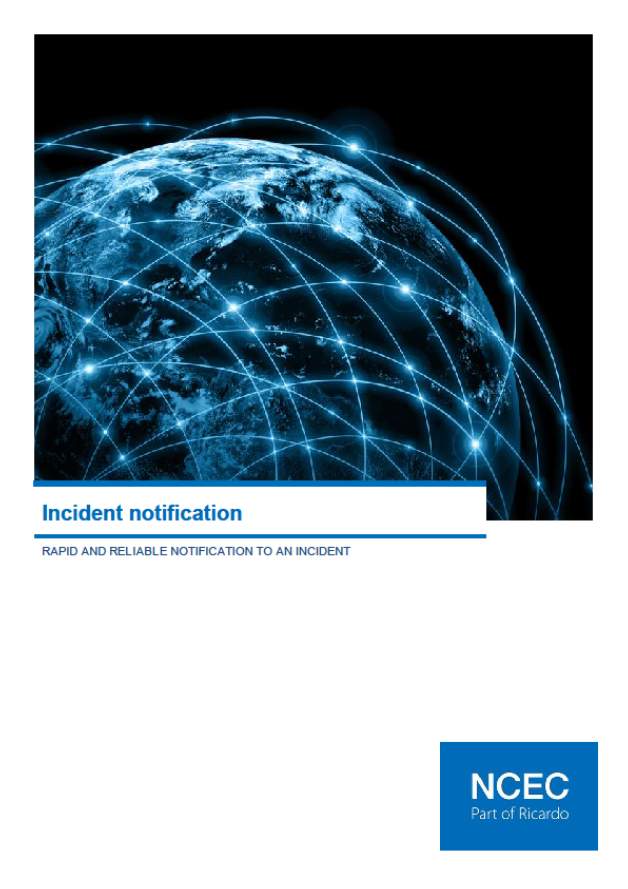 Implementing effective incident notification