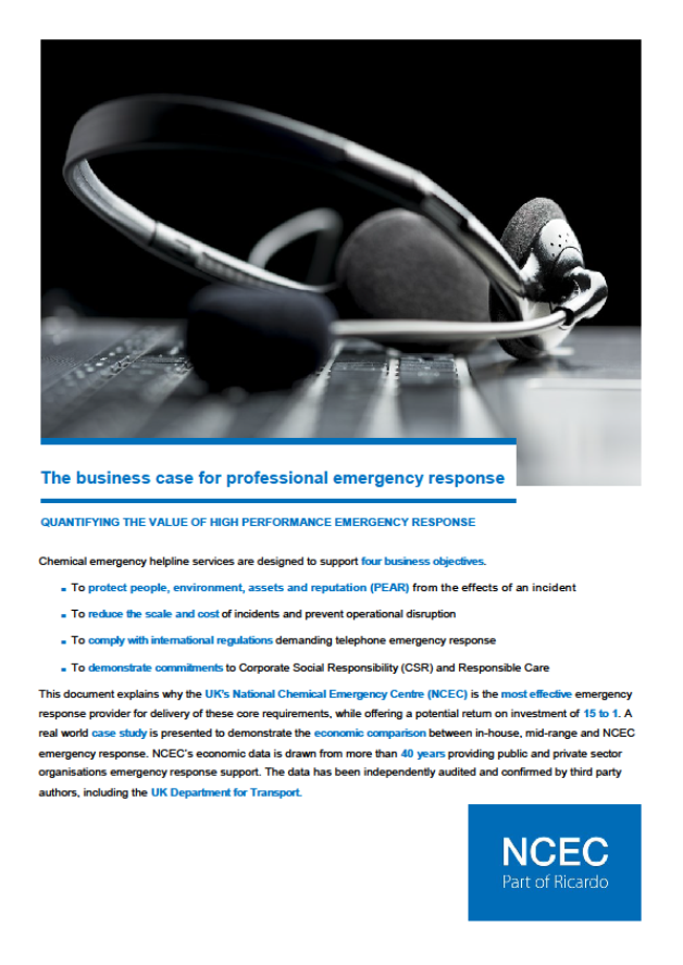 The business case for professional emergency response