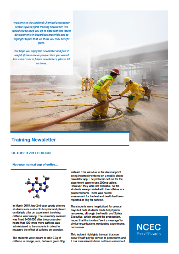 NCEC Training Newsletter, Issue 1