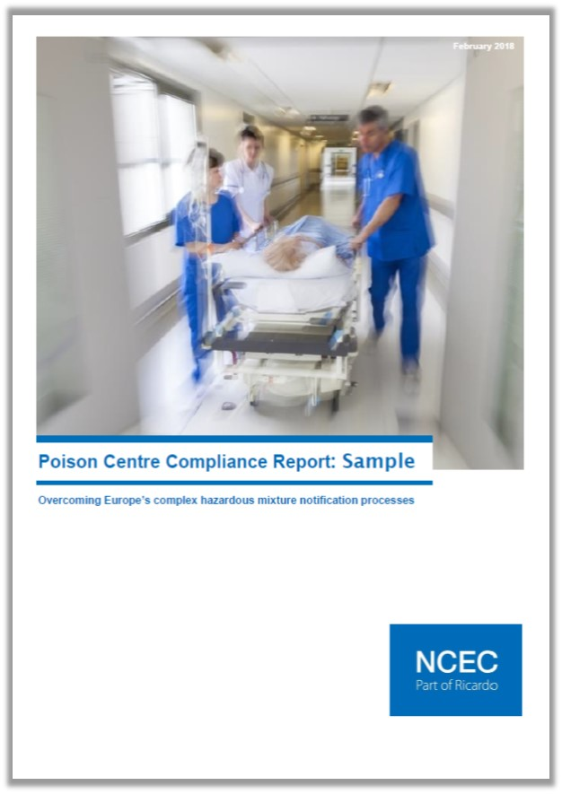 Poison centre compliance report: Sample
