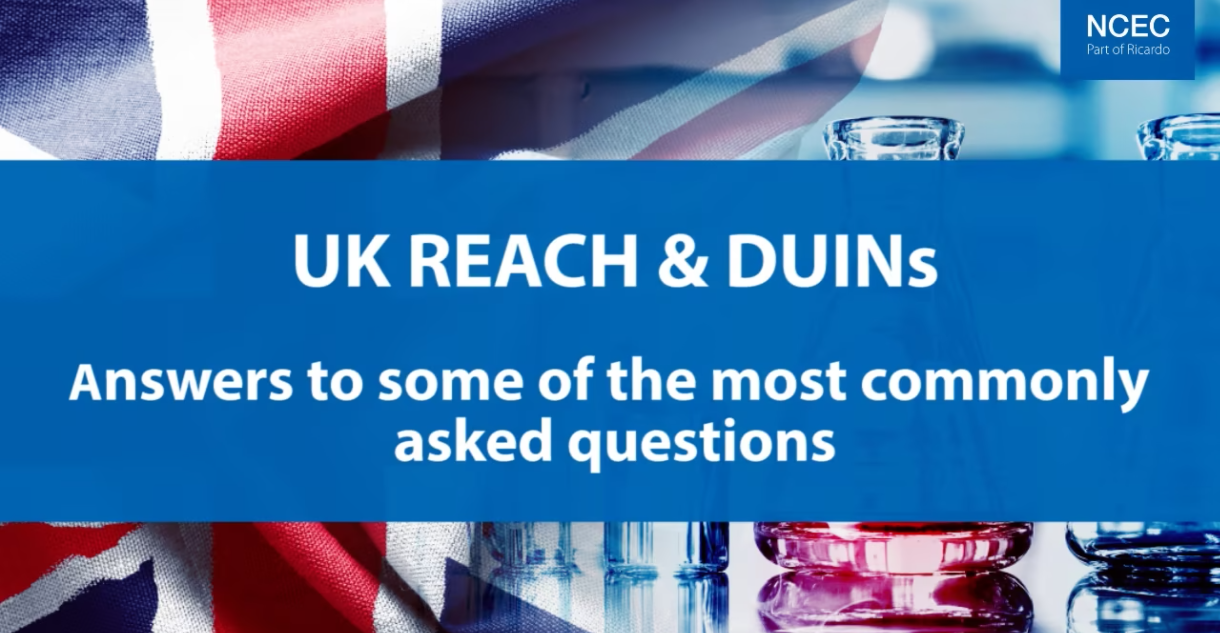 UK REACH & DUINs: Answers to some of the most commonly asked questions