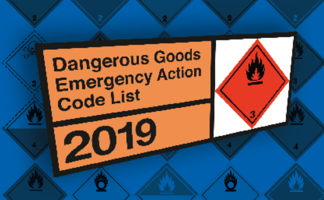 The Dangerous Goods Emergency Action Code List 2019 now available