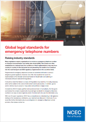Global legal standards for emergency telephone numbers – summary tables (July 2021 edition)